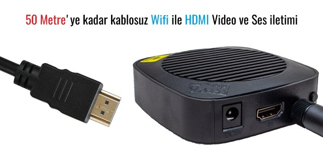 Powermaster 50 Metre HDMI Kablosuz Extender PM-19864