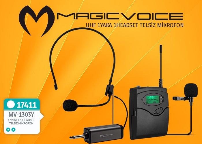 Magicvoice MV-1303Y 1 Yaka 1 Headset Telsiz Mikrofon