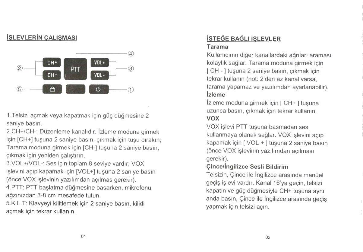 Wln KD-C80 Pil-Þarj Aleti Dahil Tekli Telsiz