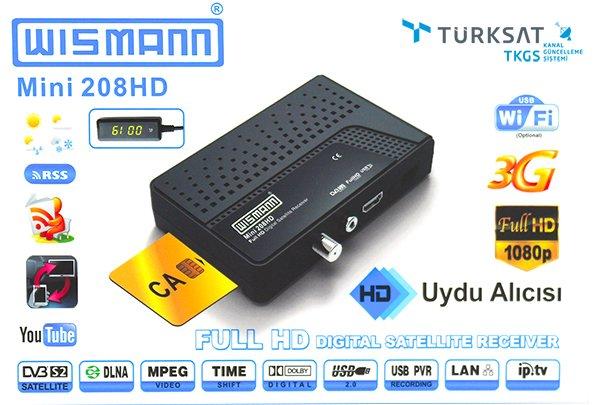 Wismann WS-208HD Full Hd Mini IPTV Uydu Alıcısı TKGS'li