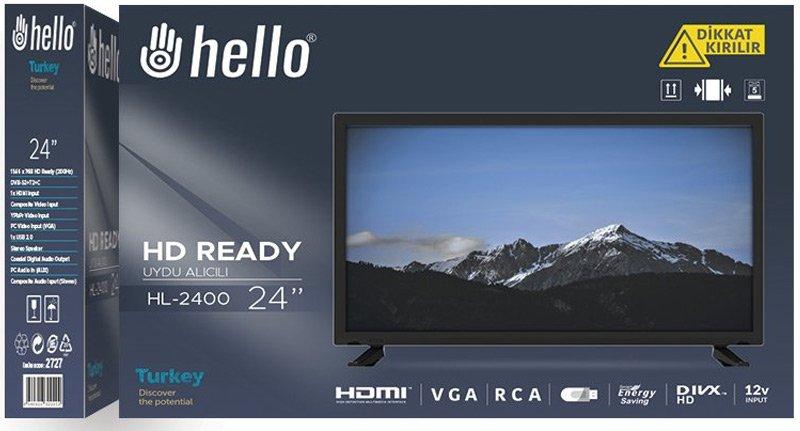 Hello 24 inc 61 Ekran Dahili Uydu Alıcılı Lcd-Led Tv