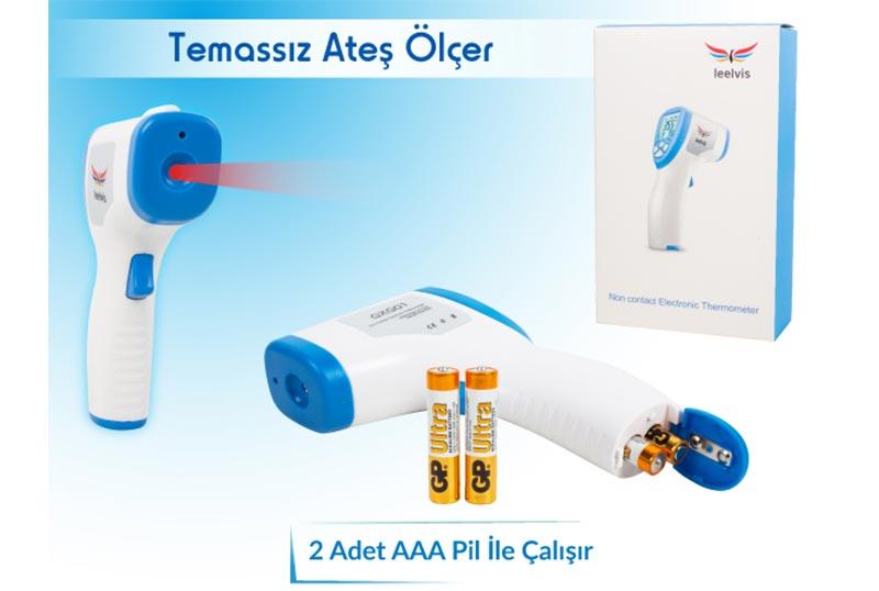 Leelvis Dijital Tıbbi Temassız Ateş Ölçer Termometre GXG01