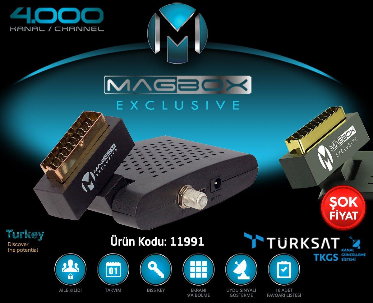 Magbox Exclusive Mini Scart SD'Li Büyük Kumandalı Uydu Alıcısı