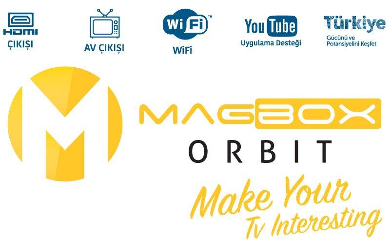 Magbox Orbit Mini Full HD TKGS'li Uydu Alýcýsý