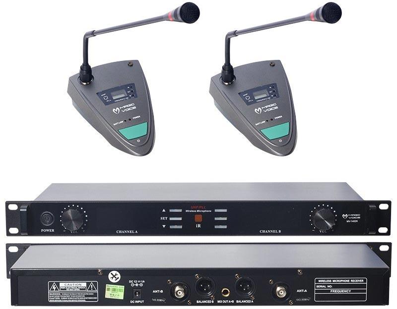 Magicvoice MV-1402K Uhf 2 Kablosuz Kürsü Mikrofonu
