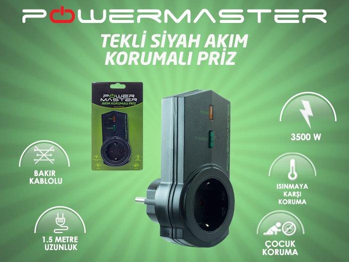 Powermaster PM-16621 Akım korumalı priz