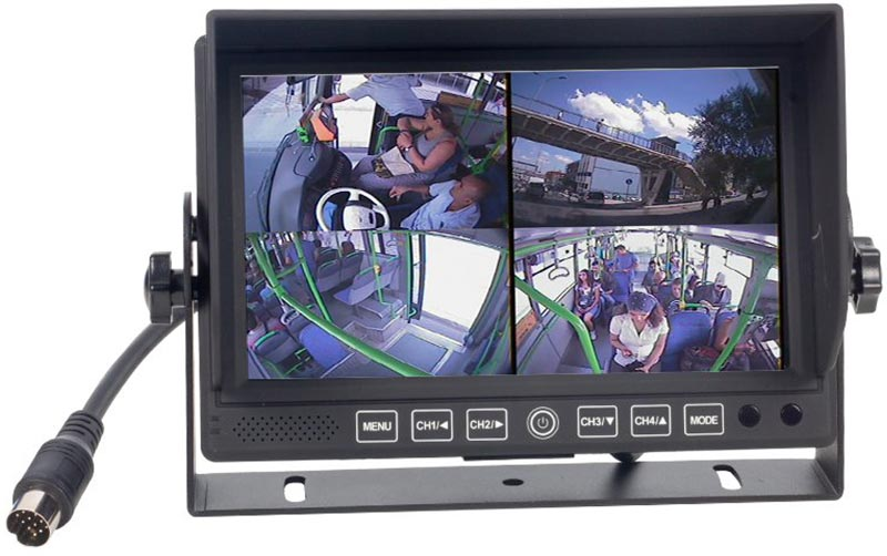 Powermaster Dokunmatik Tuþ Takým Quad 4 Yollu (4 e Bölünebilen Ekran) Araç Monitor