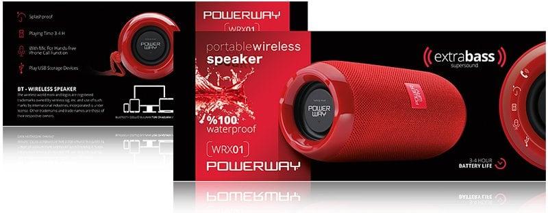 Powerway WRX-1 USB-SD-Bluetooth Destekli Taþýnabilir Wireless Speaker
