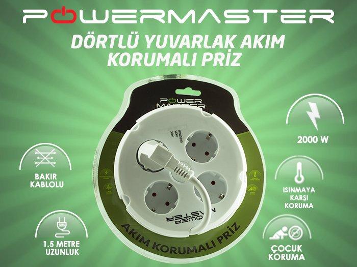 Powermaster 4'lü Akım Korumalı priz tanıtım