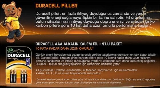 Duracell Piller AAA Çeşitleri