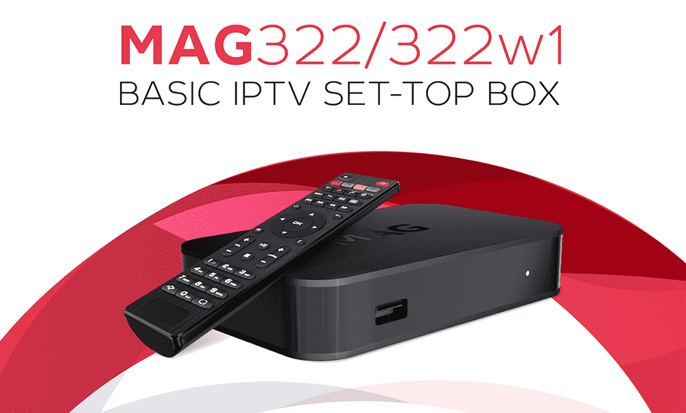 MAG 322w1 iptv set-top box