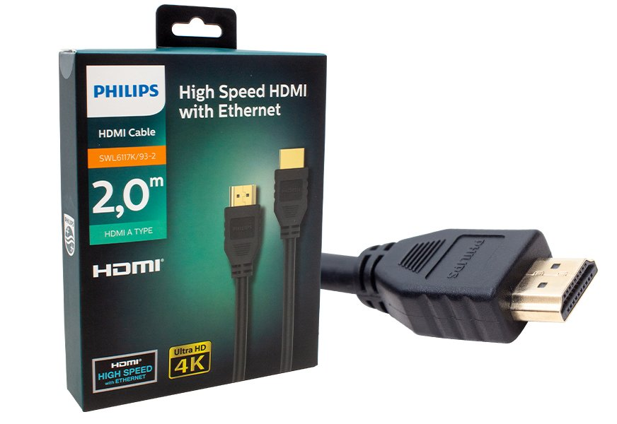 Philips SWL6117K-93-2 Ultra HD 4k Gold Uç 2 Metre Kutulu HDMI Kablo