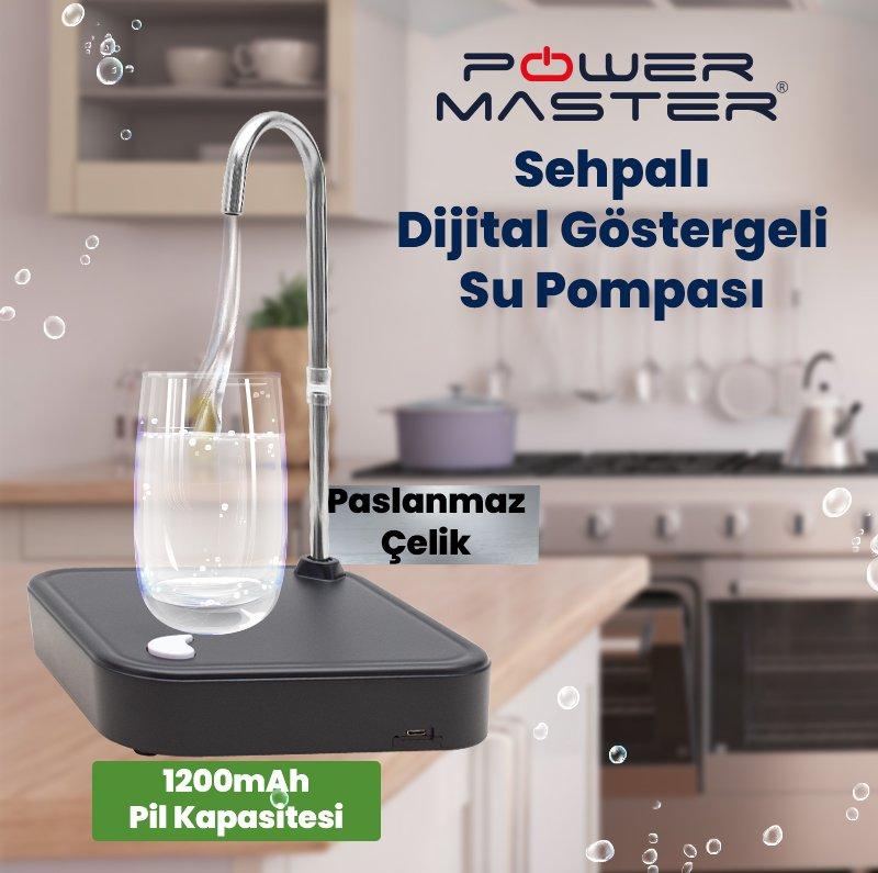 Powermaster Sehpalı Dijital Göstergeli Damacana Su Pompası PM-4937