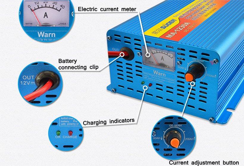 Suoer MA-1230A 12V 30A Akıllı Akü Şarj Cihazı