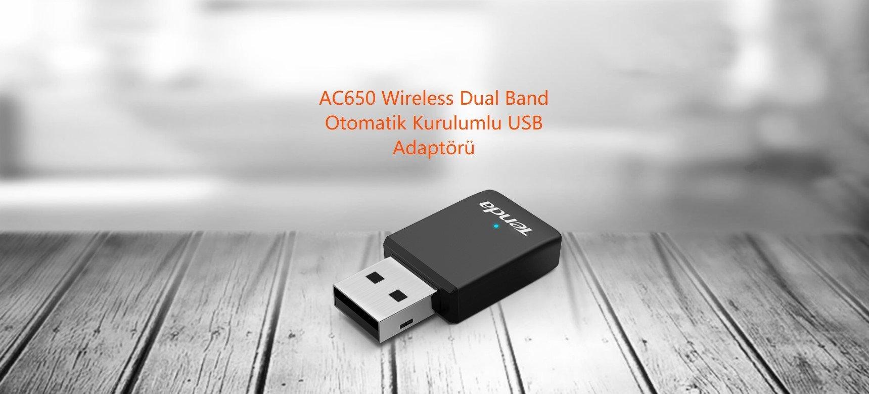 Tenda U9 WiFi AC650 Dual Band USB Adaptör