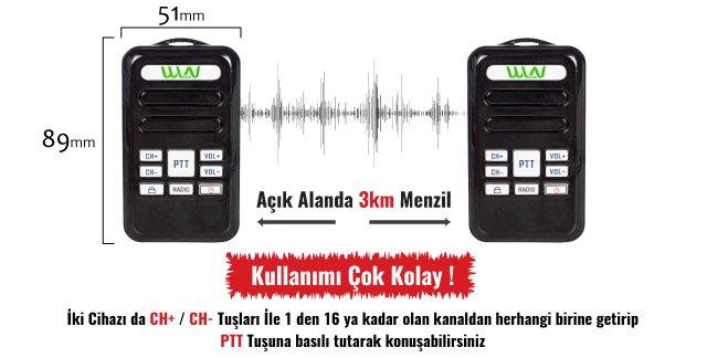 Wln Radyolu Mini Telsiz