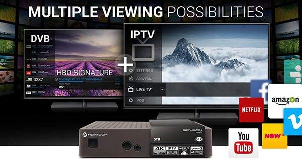 Spybox S10 Android 7.0 4K IPTV Uydu Alıcısı